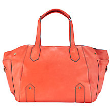 Buy COLLECTION by John Lewis Top Zip Tote Handbag, Coral Online at johnlewis.com