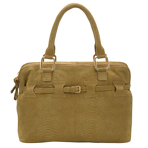 Buy COLLECTION by John Lewis Belted Grab Handbag, Green Online at johnlewis.com