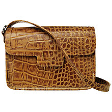 Buy O.S.P OSPREY Frankfurt Leather Croc Print Across Body Handbag, Tan Online at johnlewis.com