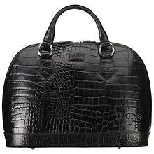 Buy OSPREY LONDON Large Ladybug Croc Print Grab Handbag, Black Online at johnlewis.com