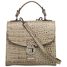 Buy OSPREY LONDON Maudie Croc Print Grab Satchel Handbag, Cork Online at johnlewis.com