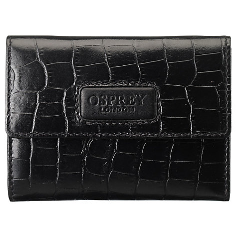 Buy OSPREY LONDON Regal Small Purse, Black Online at johnlewis.com