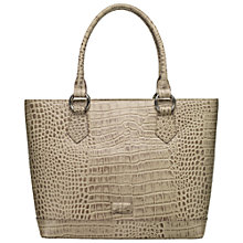 Buy OSPREY LONDON Trader A4 Leather Tote Workbag, Grey Online at johnlewis.com