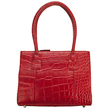 Buy O.S.P OSPREY Vienna Croc Leather Grab Handbag, Red Online at johnlewis.com