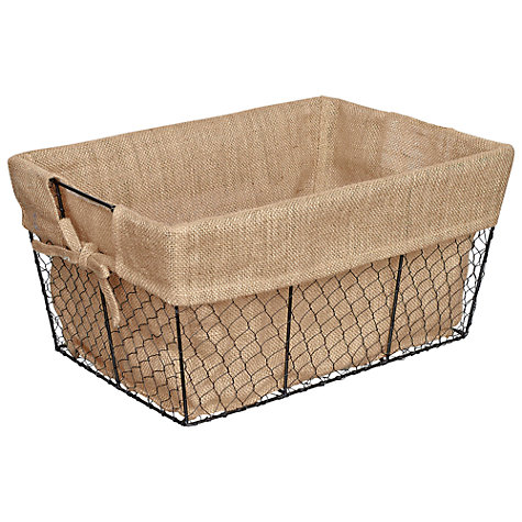 Buy John Lewis Botanist Rectangular Wire Basket Online at johnlewis.com