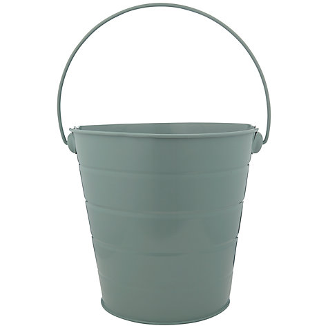 Buy John Lewis Botanist Tin Bucket, Green Online at johnlewis.com