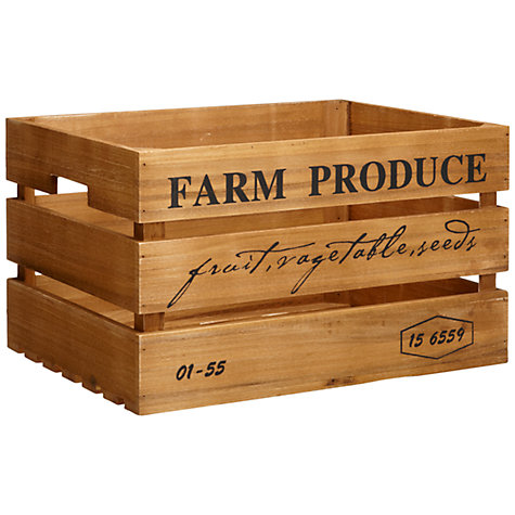 Buy John Lewis Botanist Large Wooden Crate Online at johnlewis.com