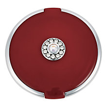 Buy John Lewis Round Silver Trim Crystal Set Compact Mirror, Red Online at johnlewis.com
