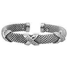 Buy Jools by Jenny Brown 3 Big Kisses Silver and Cubic Zirconia Bangle Online at johnlewis.com