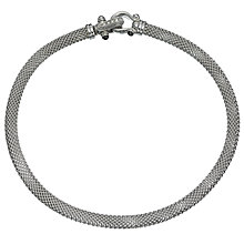Buy Jools by Jenny Brown Cubic Zirconia Silver Buckle Necklace Online at johnlewis.com