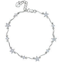 Buy Jools by Jenny Brown Silver Flower Bracelet Online at johnlewis.com