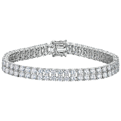Jools by Jenny Brown 2 Row Cubic Zirconia Tennis Bracelet