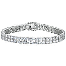 Buy Jools by Jenny Brown 2 Row Cubic Zirconia Tennis Bracelet Online at johnlewis.com