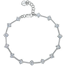 Buy Jools by Jenny Brown Silver Cubic Zirconia Rounds Bracelet Online at johnlewis.com