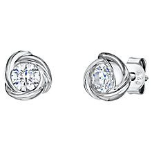 Buy Jools by Jenny Brown Infinity Round Cubic Zirconia Stud Earrings, Silver Online at johnlewis.com