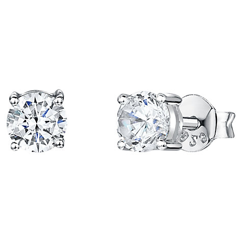 Buy Jools by Jenny Brown Cubic Zirconia Small Round Stud Earrings Online at johnlewis.com