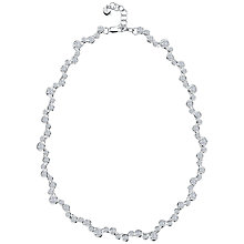 Buy Jools by Jenny Brown Sterling Silver Rubover Set Cubic Zirconia Necklace, Silver Online at johnlewis.com