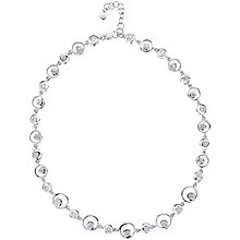 Buy Jools by Jenny Brown Sterling Silver Circle Cubic Zirconia Necklace, Silver Online at johnlewis.com