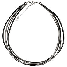 Buy Jools by Jenny Brown 4 Line Spine Silver Necklace, Grey Online at johnlewis.com