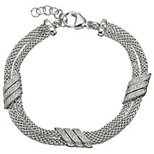Buy Jools by Jenny Brown Double Row Adjustable Chain Bracelet, Silver Online at johnlewis.com