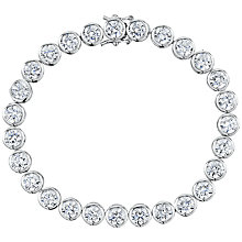 Buy Jools by Jenny Brown Round Rubover Cubic Zirconia Tennis Bracelet, Silver Online at johnlewis.com