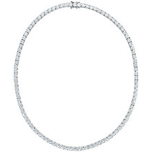 Buy Jenny Brown Brilliant Cut Sterling Silver Tennis Necklace Online at johnlewis.com