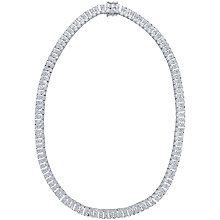 Buy Jenny Brown 2 Row Cubic Zirconia Tennis Necklace Online at johnlewis.com