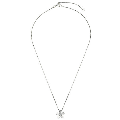 Buy Jools by Jenny Brown Cubic Zirconia Flower Pendant Necklace, Silver Online at johnlewis.com