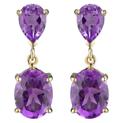 A B Davis 9ct Gold Double Drop Earrings