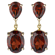 Buy A B Davis 9ct Gold Double Drop Earrings Online at johnlewis.com