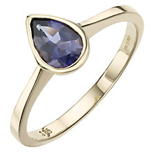 Buy A B Davis 9ct Yellow Gold Pearshaped Rubover Semi Precious Ring Online at johnlewis.com