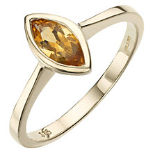 Buy A B Davis 9ct Gold Marquise Cut Rubover Ring Online at johnlewis.com