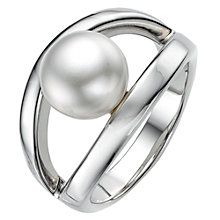Buy A B Davis Sterling Silver White Pearl Oyster Ring, N Online at johnlewis.com