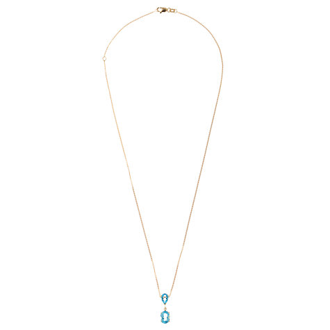 Buy A B Davis 9ct Gold Double Drop Pendant Necklace Online at johnlewis.com