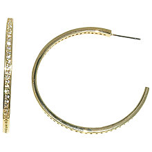 Buy Melissa Odabash Large Crystal Set Hoop Earrings Online at johnlewis.com