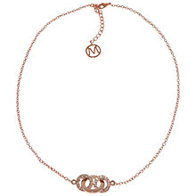 Buy Melissa Odabash Short Crystal Set Hoop Necklace Online at johnlewis.com