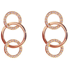 Buy Melissa Odabash Triple Crystal Set Hoop Drop Earrings Online at johnlewis.com