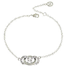 Buy Melissa Odabash Crystal Set Triple Hoop Bracelet, Silver Plated Online at johnlewis.com