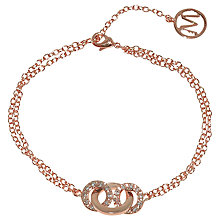 Buy Melissa Odabash Crystal Set Oval Link Bracelet Online at johnlewis.com