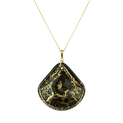 Buy Murano 1291 Gold Leaf Elements Murano Glass Shamare Fan Pendant, Black Online at johnlewis.com