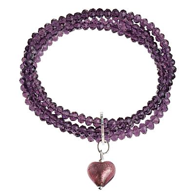 Martick 4 Row Murano Heart Bracelet