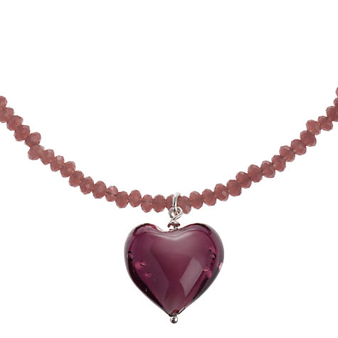 Buy Martick Murano Glass Heart Necklace Online at johnlewis.com
