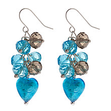 Buy Martick Platinum Heart Crystal Cluster Earrings Online at johnlewis.com