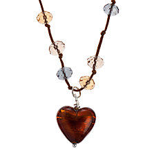 Buy Martick Murano Heart Cluster Necklace Online at johnlewis.com
