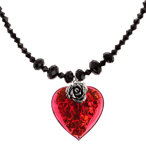Buy Martick Glass Rose And Heart Necklace Online at johnlewis.com