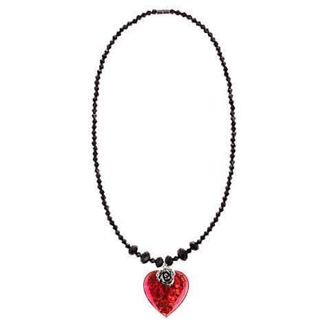 Buy Martick Bohemian Glass Flat Heart and Rose Crystal Necklace Online at johnlewis.com