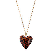 Buy Martick Animal Print Murano Heart Necklace Online at johnlewis.com