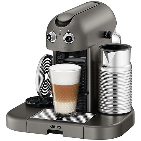 Buy Nespresso Gran Maestria Coffee Machine by Krups, Titanium Online at johnlewis.com