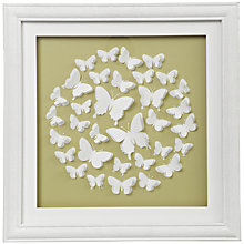 Buy John Lewis Butterfly Framed Print, 40 x 40cm Online at johnlewis.com