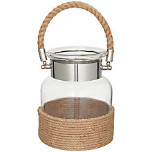 Buy John Lewis Glass Jar Rope Lantern, Small Online at johnlewis.com